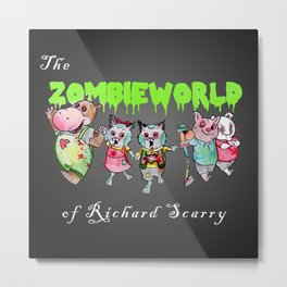 The Zombie World of Richard Scarry Metal Print