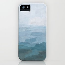 Sky Denim Teal Blue Abstract Nature Ocean Painting Art Print Wall Decor  iPhone Case