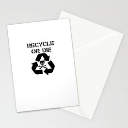 Recycle Black Stationery Cards