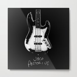 Jaco Pastorius - Jazz Bass - Music Metal Print