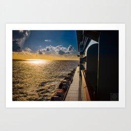 Caribean Sunset Art Print