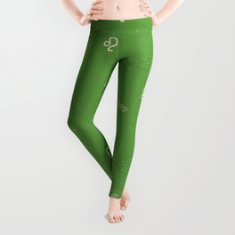 Leo Pattern - Green Leggings