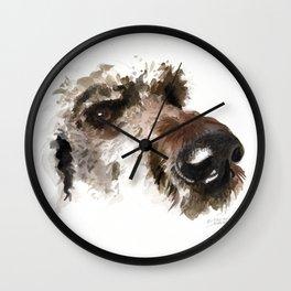 Dogface Golden Doodle Wall Clock