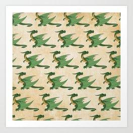 Wyvern Pattern Art Print