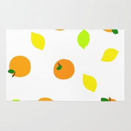 Citrus with Yellow, Orange and Green Oranges, Lemons and Limes Rug