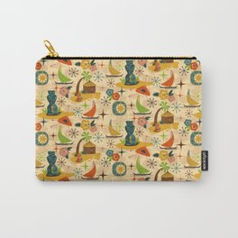 Midcentury Modern Tiki Carry-All Pouch