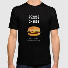 Pulp Fiction - royale with cheese MEDIUM Mens Fitted Tee Black