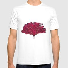 Peacock - red Mens Fitted Tee White MEDIUM
