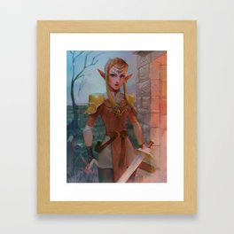 Elven Zelda Framed Art Print