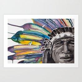 Iron Tail Watercolor Art Print
