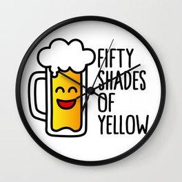 50 shades of yellow Wall Clock