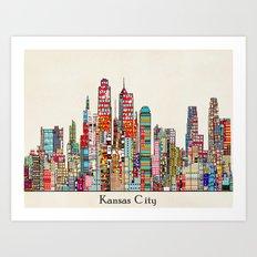 kansas city Missouri skyline Art Print