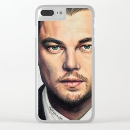 Drawing Leonardo DiCaprio Clear iPhone Case