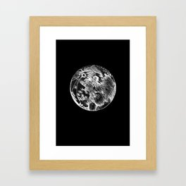 moon large Framed Art Print