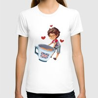 louis T-shirts featuring Louis & Tea by RUBYCURLS