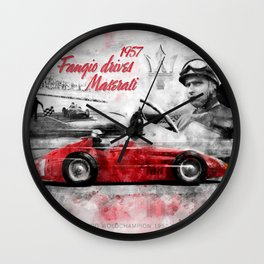 Fangio drives M 250F Wall Clock