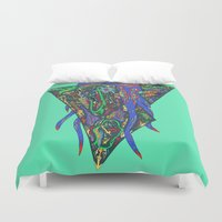 squid Duvet Covers featuring Squid by oddscenes