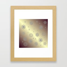 Snowflakes in the Sky Framed Art Print
