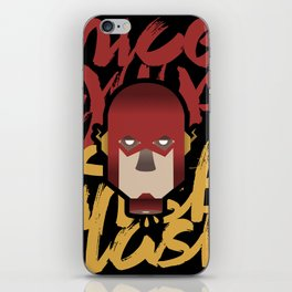 The flash is dead iPhone Skin