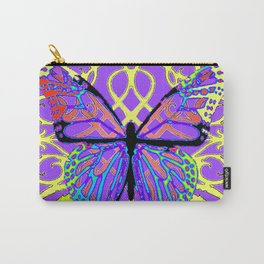 ABSTRACT PURPLE-YELLOW BUTTERFLY ART Carry-All Pouch
