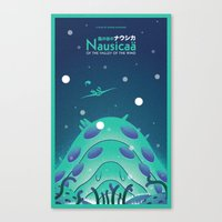 nausicaa Canvas Prints featuring Nausicaa Valley of the Wind by Oliver Sin