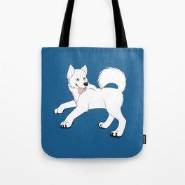 Husky (White) Tote Bag