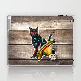 Gato en un Sombrero - Day of the Dead Sugar Skull Cat - Dia de los Muertos Kitty Laptop & iPad Skin