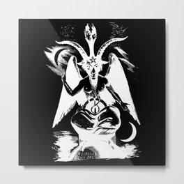 Der Baphomet Negative Metal Print