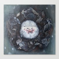 hedgehog Canvas Prints featuring Hedgehog by Marjolein Caljouw