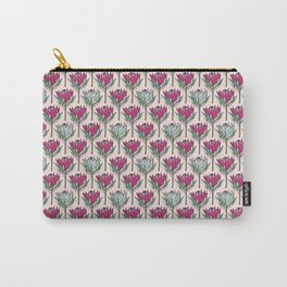 King Protea (Pink On Pink) Carry-All Pouch