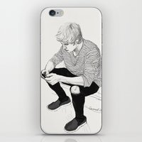 niall iPhone & iPod Skins featuring Niall Sketch by Coconut Wishes