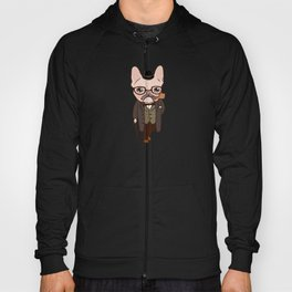 The Frenchie gentleman takes a walk after the spring rain Hoody