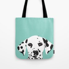 Dalmatian cute puppy dog black and white mint pastel gender neutral pet owner gifts love animals Tote Bag