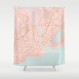Galway map Shower Curtain