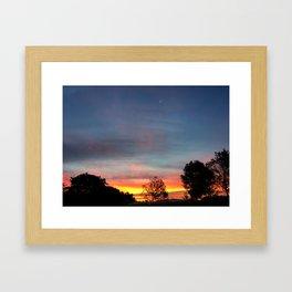 Lurid Dawn: 10.08.15 Framed Art Print
