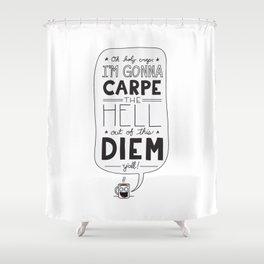 Coffee Diem Shower Curtain