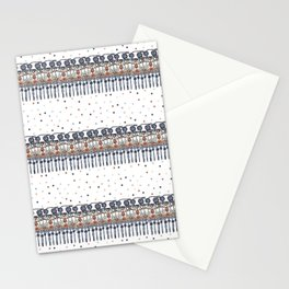 Retinal Circuitry - Color on White Stationery Cards
