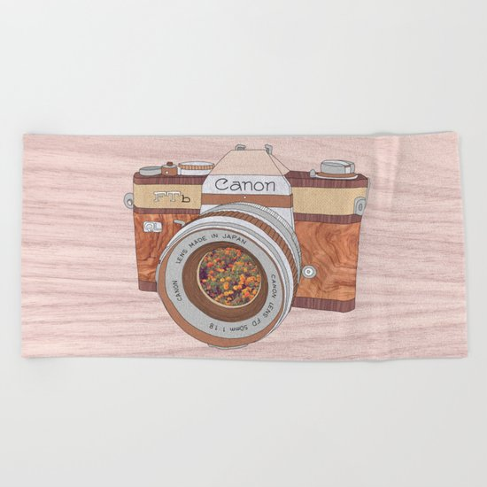 Wood Canon Beach Towel