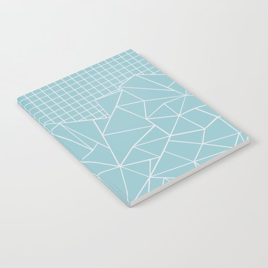 Ab Outline Grid Salty Notebook