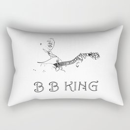 B B King The Jazz and Blues guitar legend Rectangular Pillow