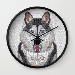 Happy Husky Wall Clock