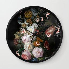 """Still Life with Koi""""s Wall Clock"""