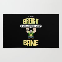 bane Area & Throw Rugs featuring Break-It Bane by Miguel Camilo