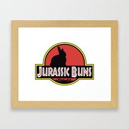 JURASSIC BUNS Framed Art Print