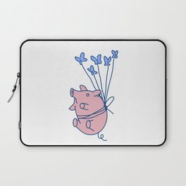 pig with balloons Laptop Sleeve