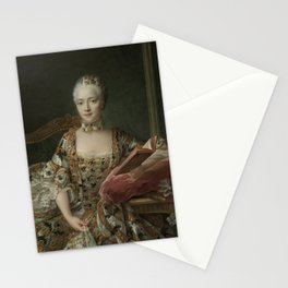 Portrait of the Marquise d'Aguirandes by François Hubert Drouais Stationery Cards