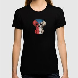 Cute Puppy Dog with flag of Czech Republic T-shirt