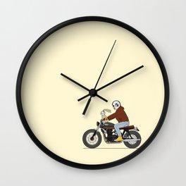 Bunny riding triumph Wall Clock