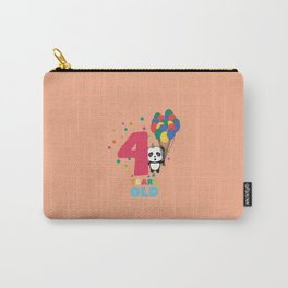 Four Years fourth Birthday Party Panda Dbcrf Carry-All Pouch