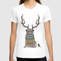 huebucket T-shirts featuring Deer Pug by Huebucket